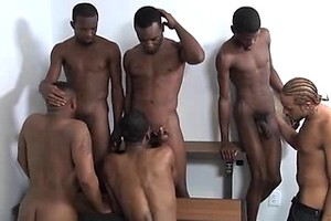 Lil Jersey Boi, Phenix, Damari, Jamaican Flava, Santana Delacuze and Intrigue. Ebony gay orgy.